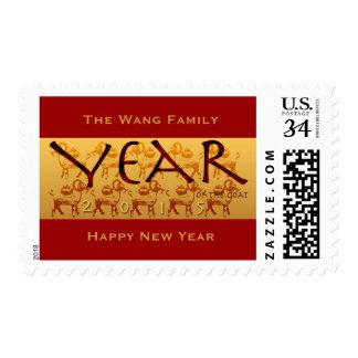 Año de la cabra de 2015 ovejas del espolón - timbres postales