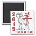 Año de la cabra del espolón de las ovejas imanes para frigoríficos