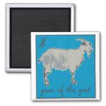 Año de la cabra imanes para frigoríficos