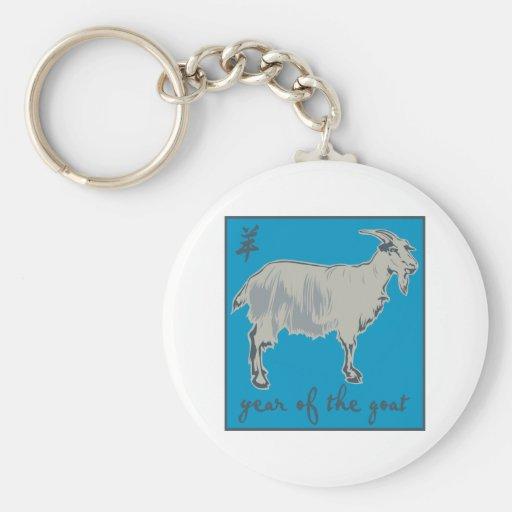 Año de la cabra llavero personalizado