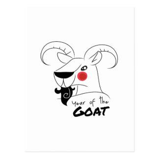 Año de la cabra postal