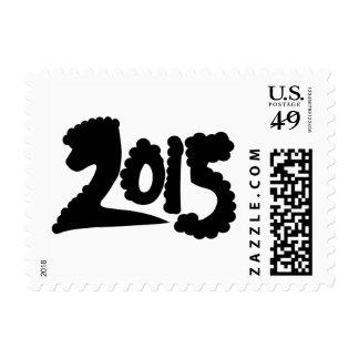 Año de la caligrafía lunar del Año Nuevo de las Franqueo