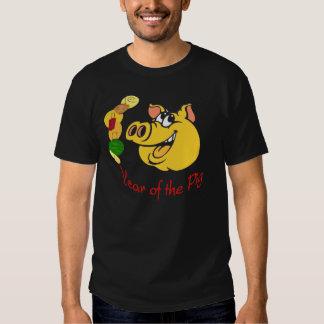 Año de la camisa del negro del cerdo