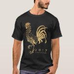 Año de la camiseta adaptable del gallo 2017