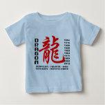 Año de la camiseta de las características del playera para bebé