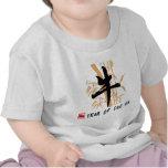 Año de la camiseta del bebé del buey