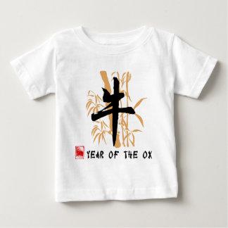 Año de la camiseta del bebé del buey playeras