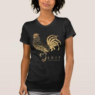Año de la camiseta del personalizable W del gallo