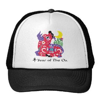 Año de la camiseta y de los regalos del buey gorro de camionero