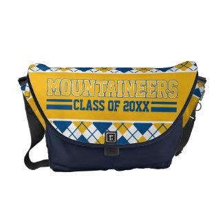 Año de la clase de los alumnos de los montañeses bolsa messenger