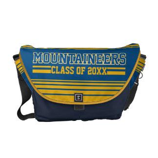 Año de la clase de los alumnos de los montañeses bolsas de mensajeria