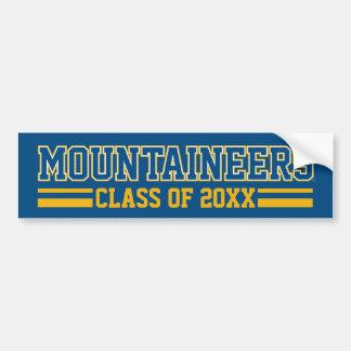 Año de la clase de los alumnos de los montañeses pegatina para auto