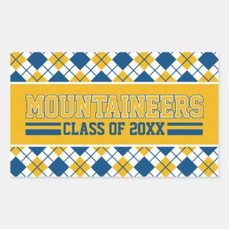 Año de la clase de los alumnos de los montañeses pegatina rectangular