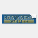 Año de la clase de los montañeses - azul etiqueta de parachoque