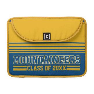 Año de la clase de los montañeses - azul funda para macbook pro