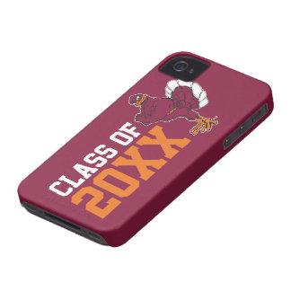 Año de la clase del pájaro de Hokie Case-Mate iPhone 4 Cárcasas