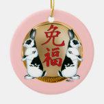Año de la Conejo-Buena suerte Ornamente De Reyes