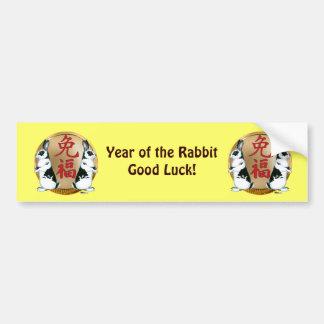 Año de la Conejo-Buena suerte Pegatina Para Auto