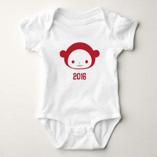 Año de la enredadera 2016 del bebé del mono poleras