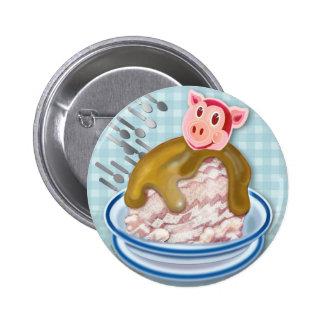 Año de la invitación del helado del cerdo - pin redondo de 2 pulgadas