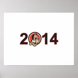 Año de la mascota 2014 del caballo posters