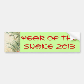 Año de la pegatina para el parachoques de la serpi pegatina de parachoque