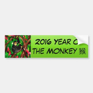 Año de la pegatina para el parachoques del mono pegatina para auto