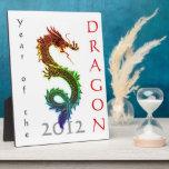 Año de la placa 2012 del dragón