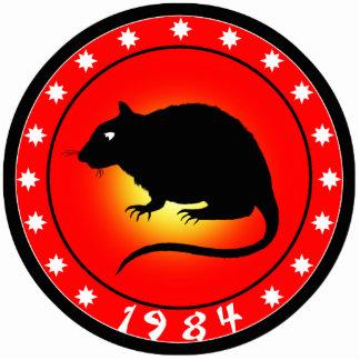 Año de la rata 1984 escultura fotográfica