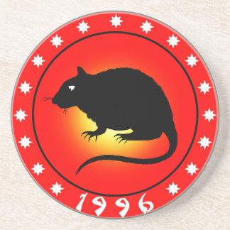 Año de la rata 1996 posavasos manualidades