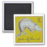 Año de la rata imán de frigorifico