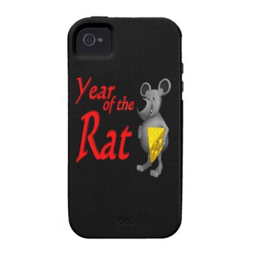 Año de la rata iPhone 4/4S fundas