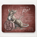 Año de la rata Mousepad Tapete De Ratones