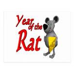 Año de la rata postales