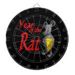 Año de la rata tablero dardos