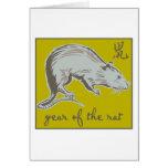 Año de la rata tarjetas