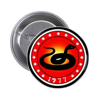 Año de la serpiente 1977 pin