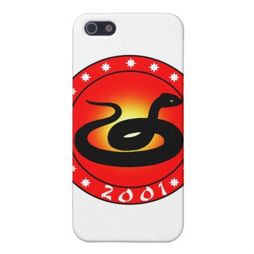 Año de la serpiente 2001 iPhone 5 funda