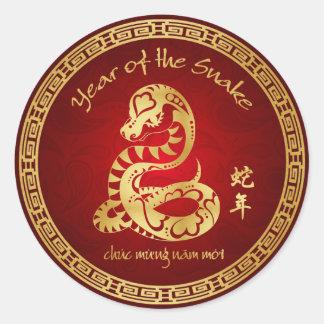 Año de la serpiente 2013 - Año Nuevo vietnamita - Etiqueta