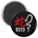 Año de la serpiente 2013 imanes para frigoríficos