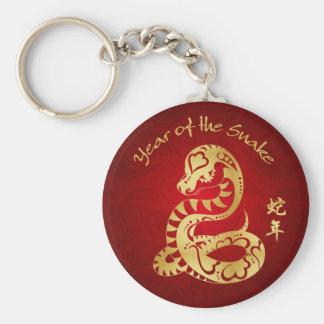 Año de la serpiente 2013 llavero redondo tipo pin