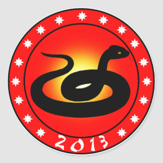 Año de la serpiente 2013 pegatina redonda