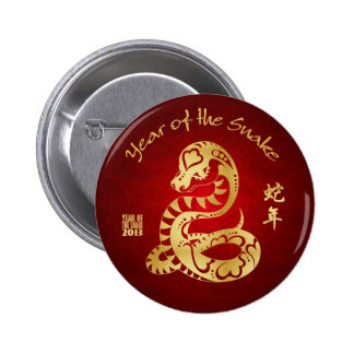 Año de la serpiente 2013 - pernos chinos del Año N Pin Redondo 5 Cm