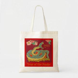 Año de la serpiente bolsa tela barata