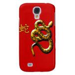 Año de la serpiente en rojo y oro