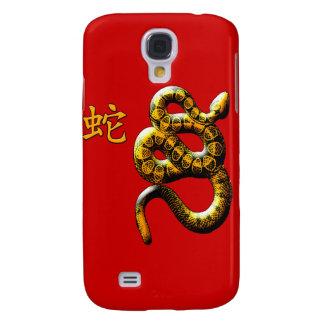 Año de la serpiente en rojo y oro samsung galaxy s4 cover