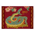 Año de la serpiente felicitación