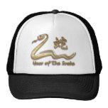 Año de la serpiente gorros bordados
