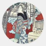 Año de la serpiente: Ikenohada por Yajima, Gogaku Pegatina Redonda