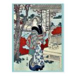 Año de la serpiente: Ikenohada por Yajima, Gogaku Tarjeta Postal